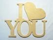 """0463-Напис """"I Love you"""""""